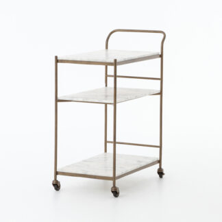 Felix Brass and Marble Bar Cart