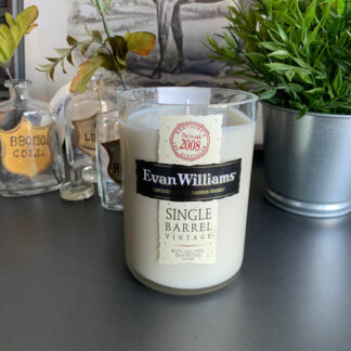 Recycled Evan Williams Single Barrel Bourbon Candle