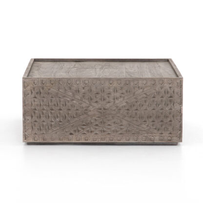Abby Square Coffee Table- Aged Grey