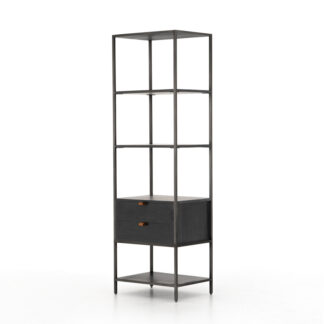 Trey Bookshelf- Black Wash