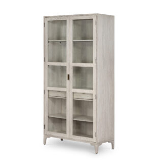 Viggo Vintage White Oak Cabinet