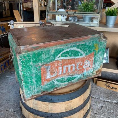Vintage Green Metal Cooler