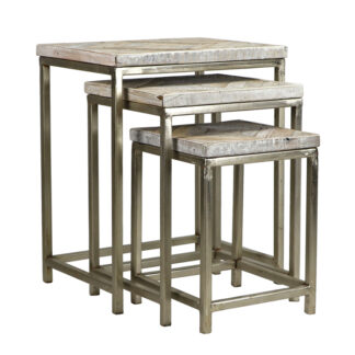 Embed Reclaimed Wood Nesting Tables (Set of 3)