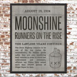 Moonshine News Article Print White