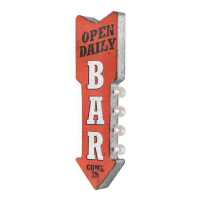 Open Daily Bar Reproduction Advertising Sign