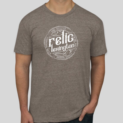 Distressed Relic Logo Shirt Brown