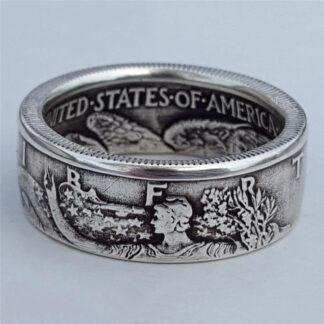 Liberty Half Dollar Coin Ring