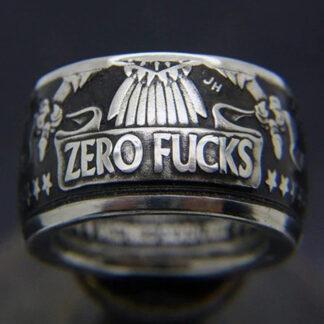 Zero F*CKS Coin Ring