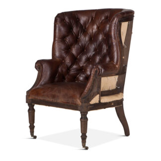 Roosevelt Deconstructed Tufted Leather Chair