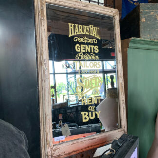 Vintage Harry Hall Tailors Shop Mirror