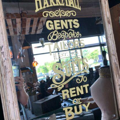 Vintage Harry Hall Tailors Shop Mirror