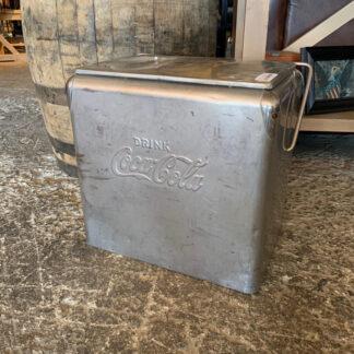 Vintage Silver Metal Coke Cooler