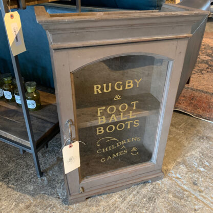 Vintage Rugby Boots Shop Cabinet