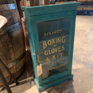 Vintage Boxing Gloves Shop Cabinet