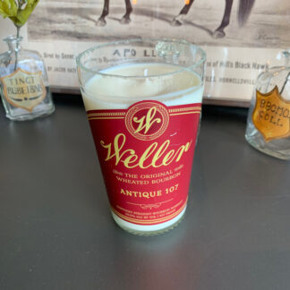 Recycled Weller Antique 107 Bourbon Candle