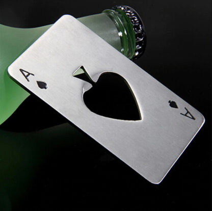 Ace of Spades Bottle Opener Silver