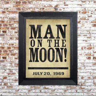 Man on Moon Framed Print Small