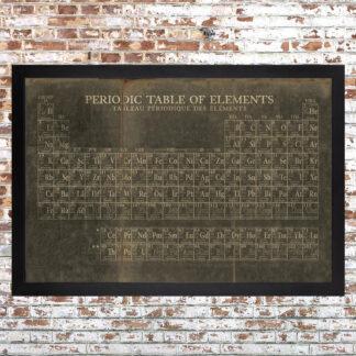 Periodic Table Framed Print Dark Large