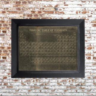 Periodic Table Framed Print Dark Small