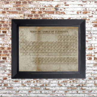 Periodic Table Framed Print Light Small