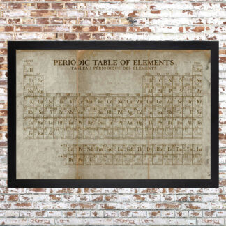 Periodic Table Framed Print Light Large