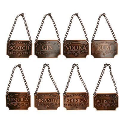 Copper Decanter Tags (Set of 8)