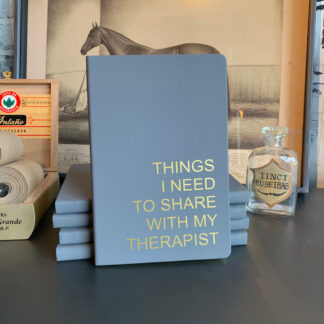 Journal- Things I Need to Share with my Therapist