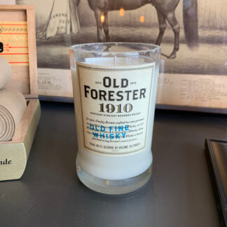 Recycled Old Forester 1910 Whiskey Candle