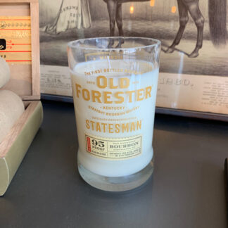 Recycled Old Forester Statesman Whiskey Candle