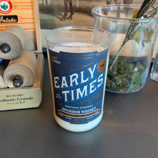 Recycled Early Times Bourbon Candle