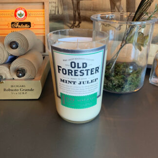 Recycled Old Forester Mint Julep Whiskey Candle
