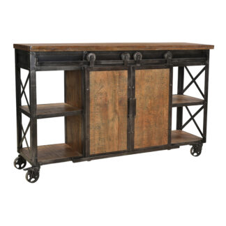 Delano Metal and Wood Sideboard