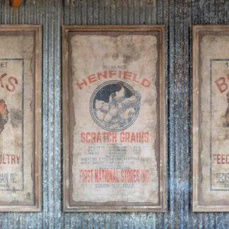Framed Becks Poultry Seed Sign (1)