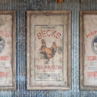 Framed Becks Poultry Seed Sign (2)