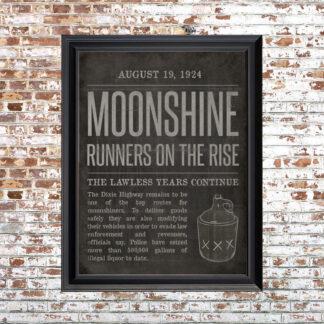 Moonshine Small Framed Print Black