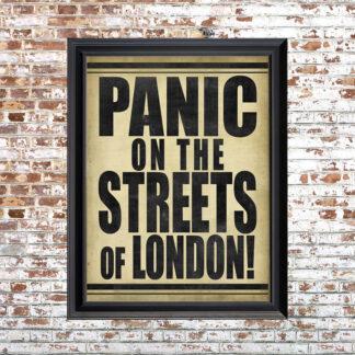 London Panic Framed Print SM