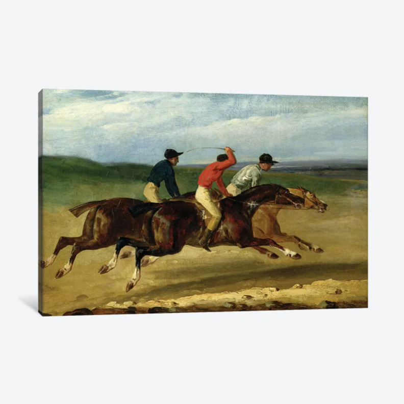 The Horse Race- Framed Canvas Giclee