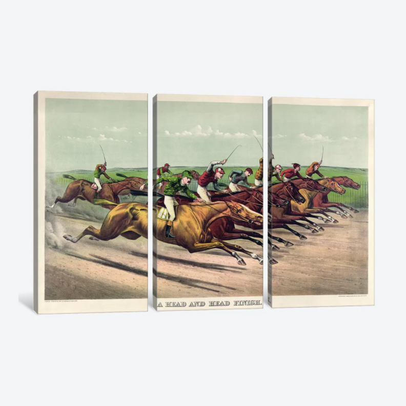 Head and Head Finish, 1892- Framed Canvas Giclee