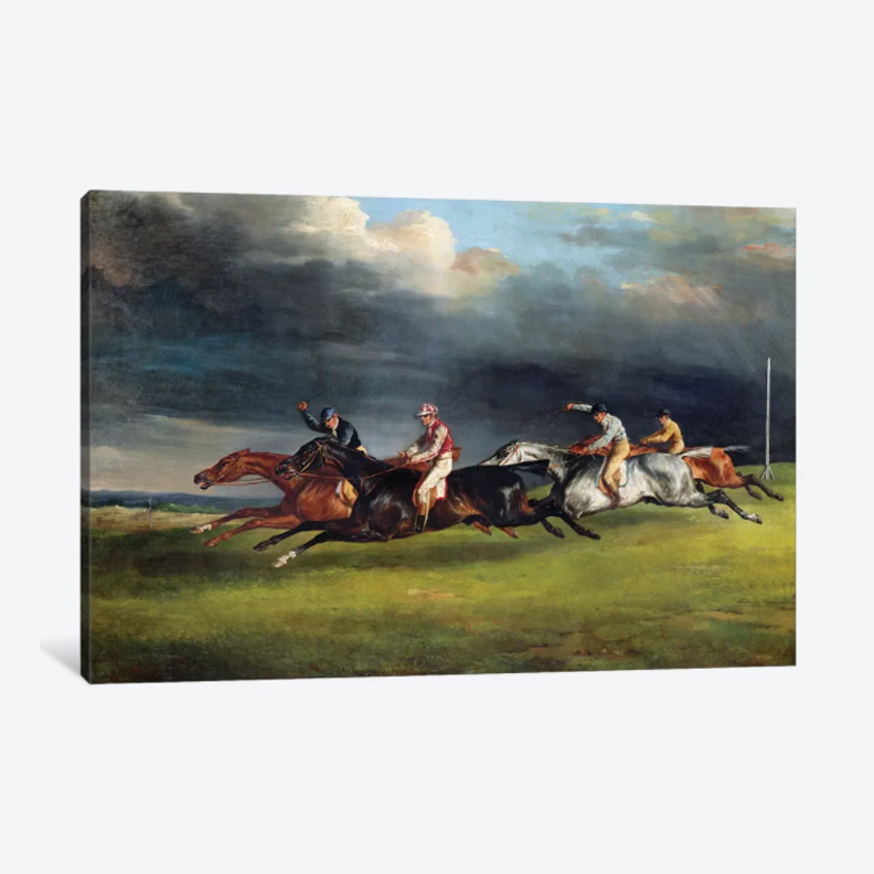 The Epsom Derby- Framed Canvas Giclee