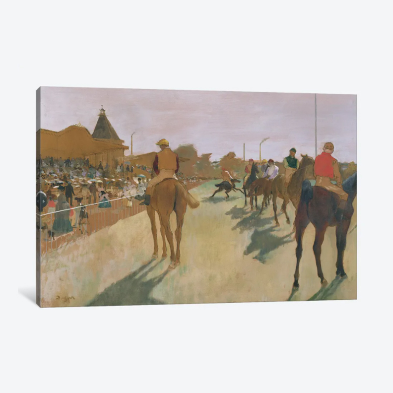 The Parade, 1866- Framed Canvas Giclee