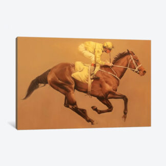 Primary Yellow- Framed Canvas Giclee