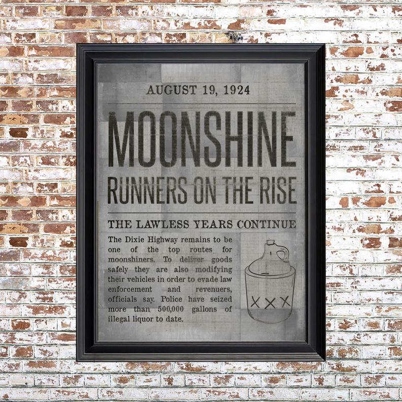 Moonshine Small Framed Print White