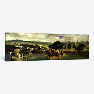 Races at Longchamp- Framed Canvas Giclee