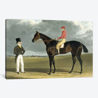 Birmingham, Winner of The St Leger- Framed Canvas Giclee