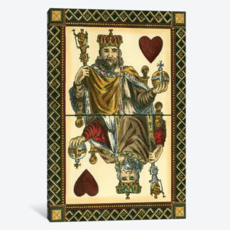 King of Hearts- Framed Canvas Giclee