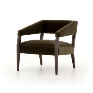 Gary Club Chair- Olive Green