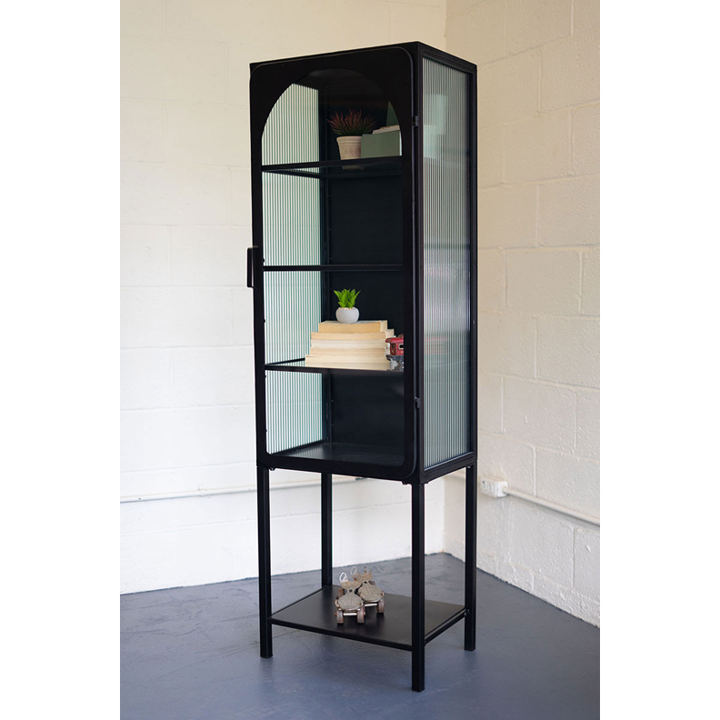 Iron and Glass Cabinet