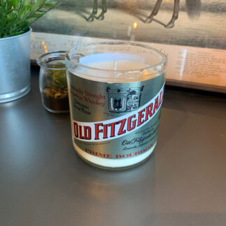 Recycled Old Fitzgerald Candle