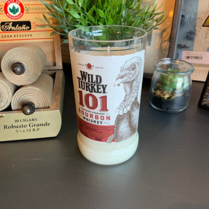 Recycled Wild Turkey 101 Bourbon Candle