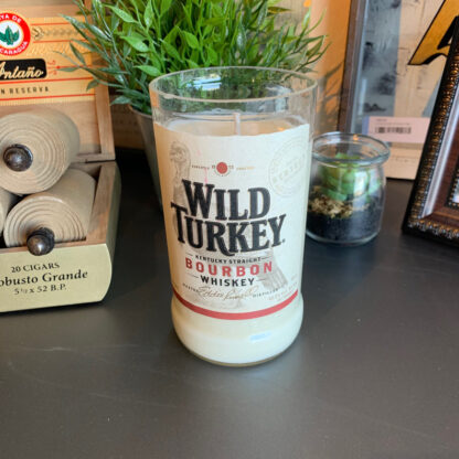 Recycled Wild Turkey Bourbon Candle